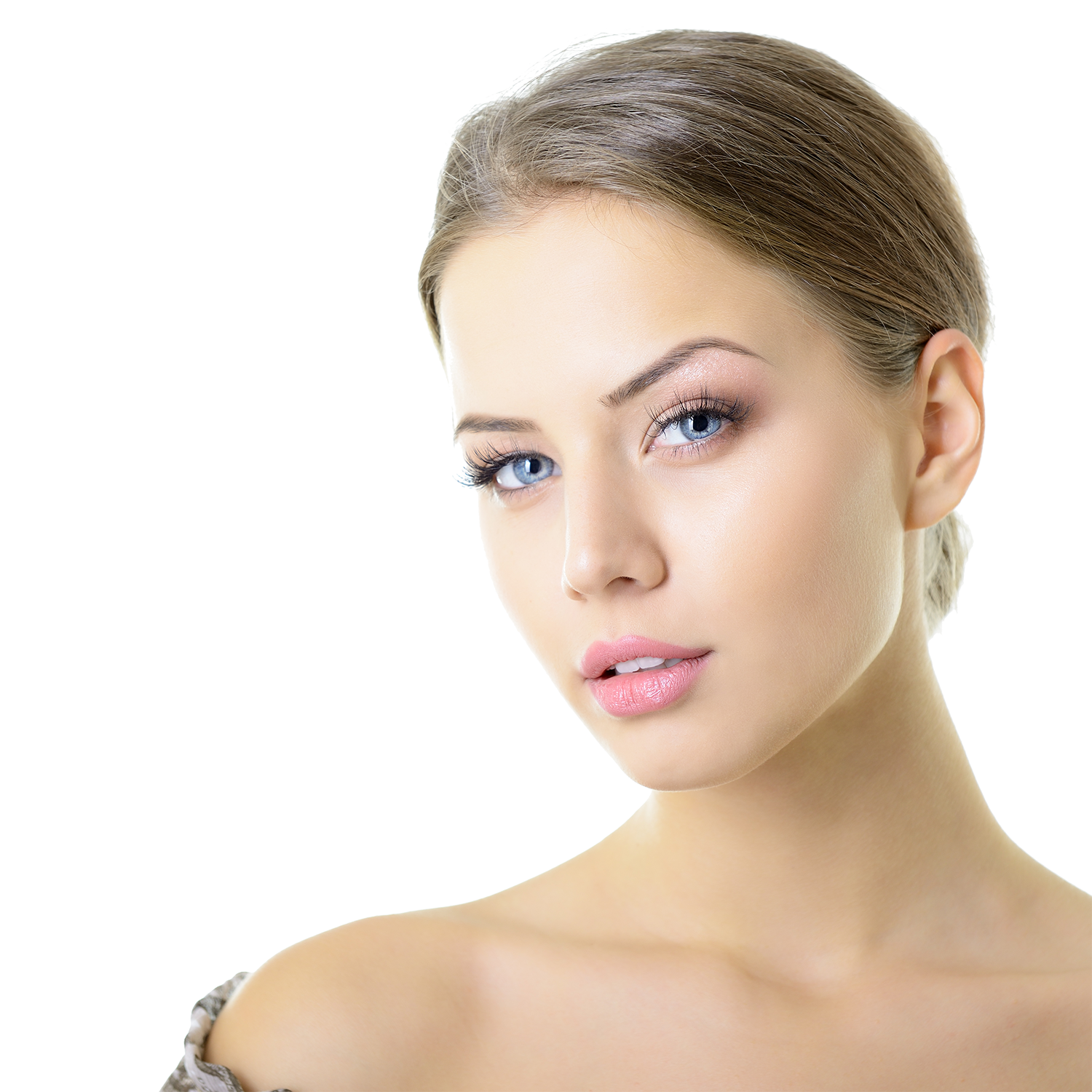 Beauty portrait of young woman with beautiful healthy face