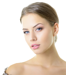 Beauty portrait of young woman with beautiful healthy face 2